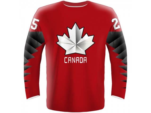 6bad1d70a Hokejový dres Kanada - červený 2019 - Fanworld.sk