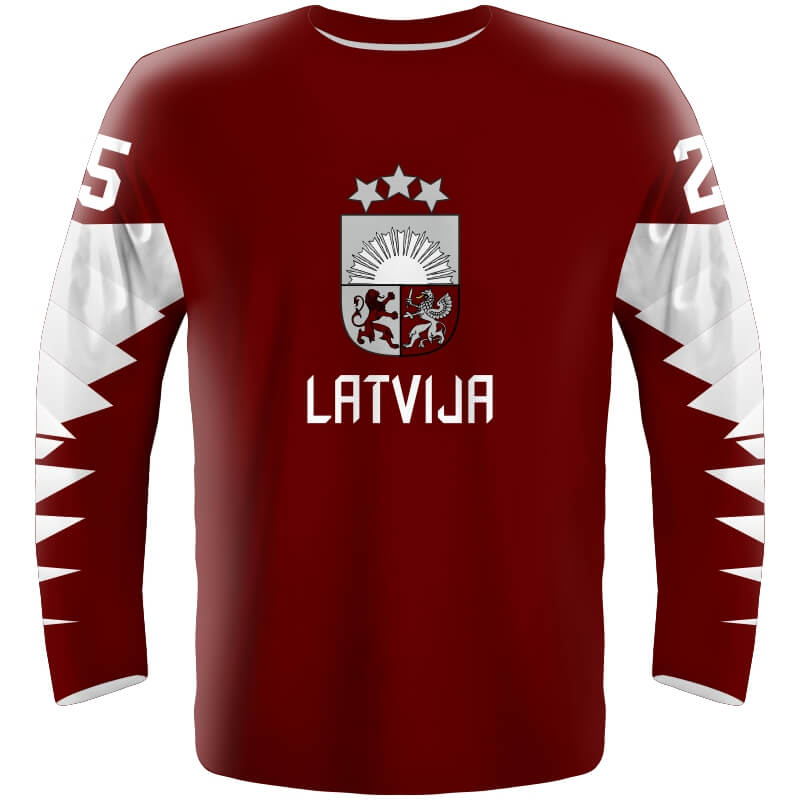 e1266f5f3527b Hokejový dres Lotyšsko 2019 - Fanworld.sk