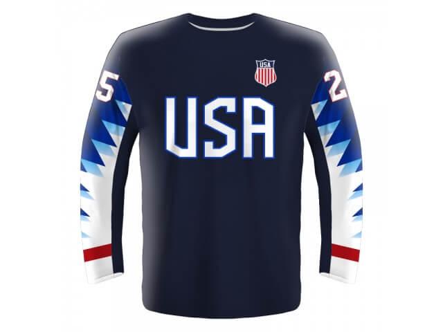 438622699 Hokejový dres USA - tmavý 2019 - Fanworld.sk